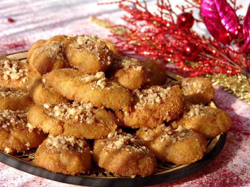 Honey Cookies (Melomakarona)   Cooking In Plain Greek