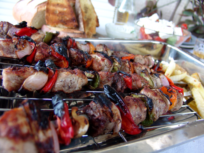 Greek Souvlaki (Skewered Grilled Meat)