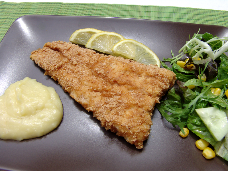 baked breaded cod fish cooking in plain greek