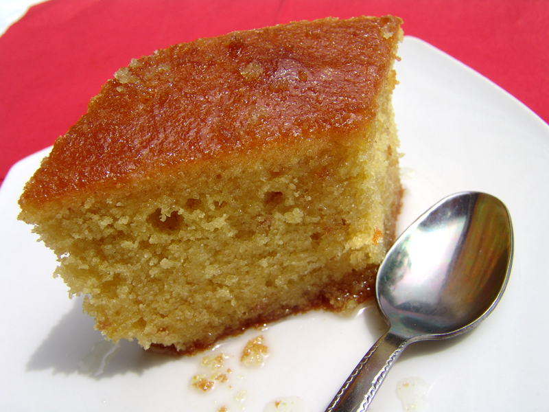 Greek Cake with semolina (Revani)