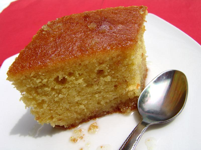 Greek Cake with semolina (Revani) | Cooking In Plain Greek