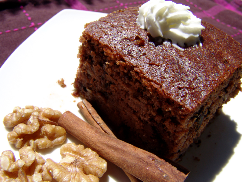 Greek Walnut Chocolate Cake (Karydopita)