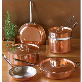 Shiny Copper Bottomed Pans Cooking In Plain Greek