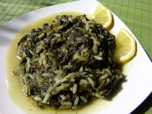 Spinach with Rice