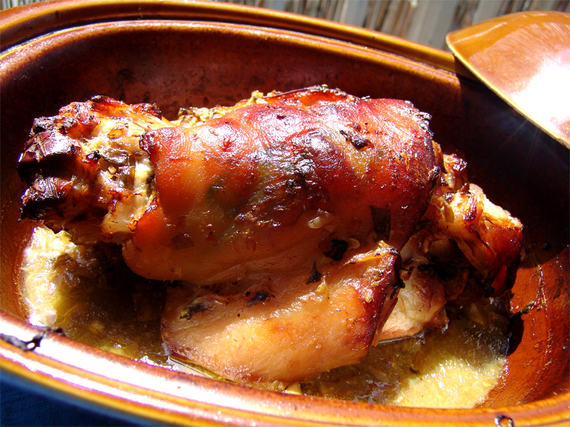 Pork Shank baked in the oven