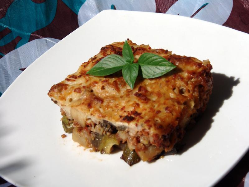 Vegetarian Moussaka - Cooking In Plain Greek