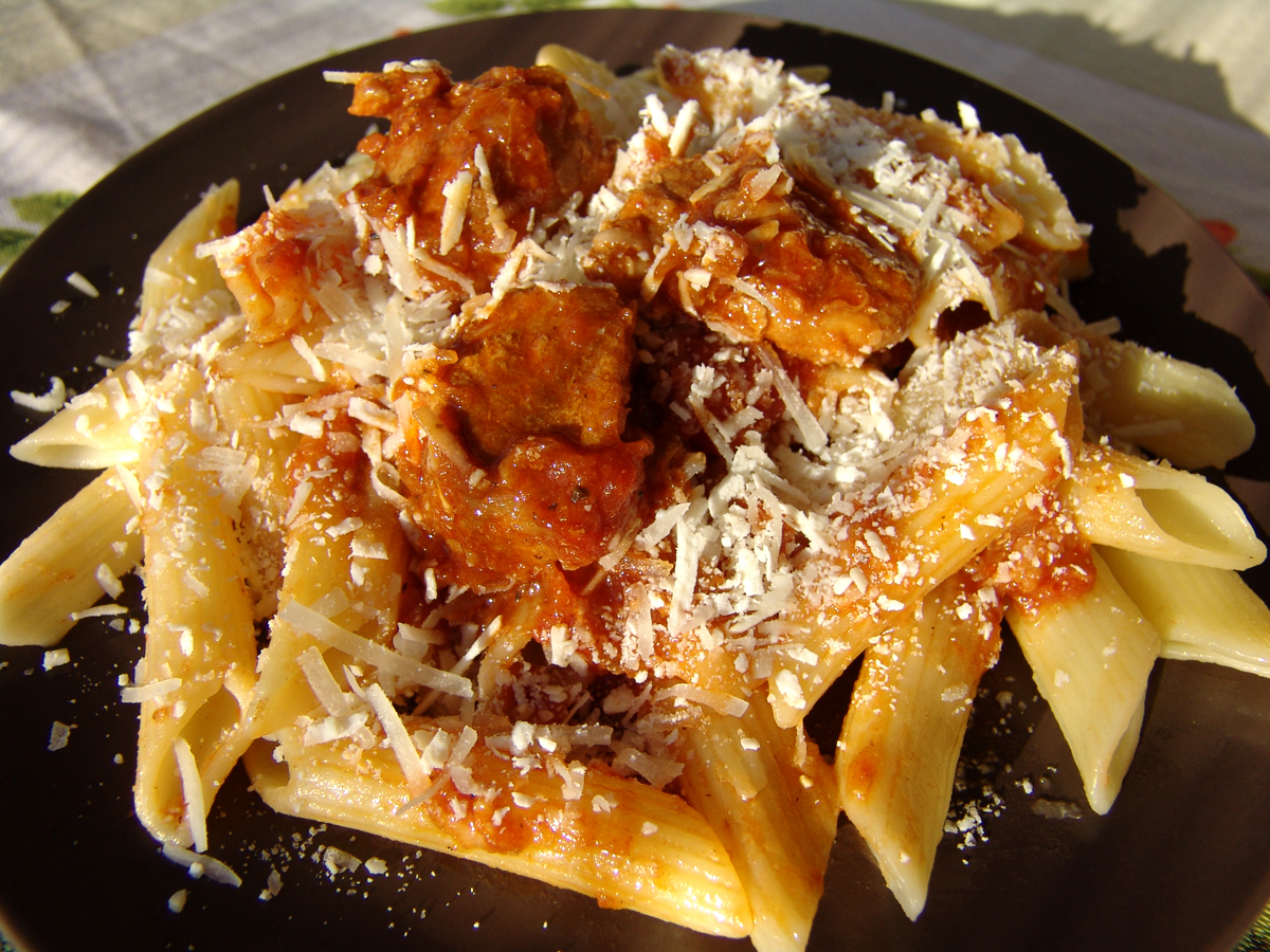 Pork Ragu with Penne Pasta