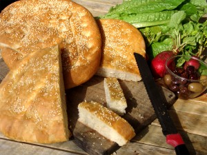 Lagana, special bread for Ash Monday