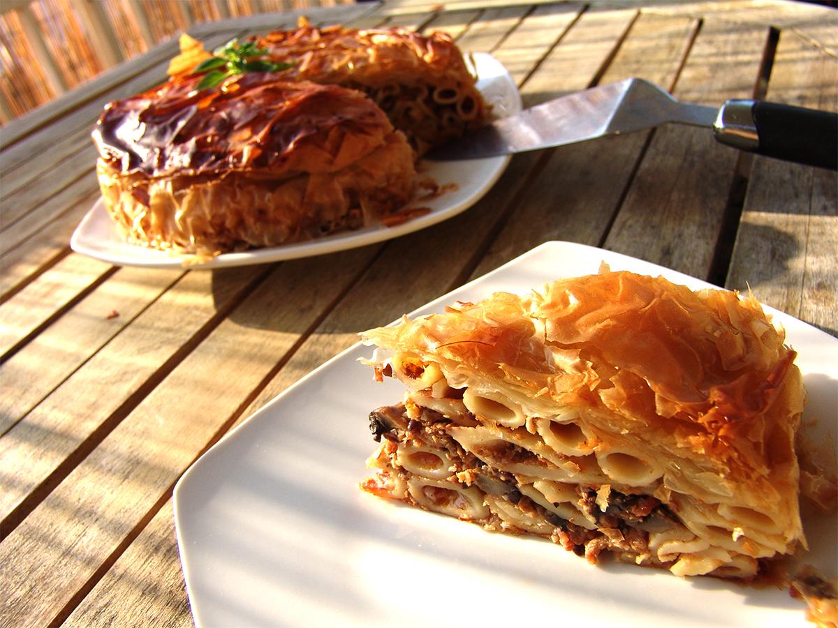 Pastitsio in Phyllo pastry